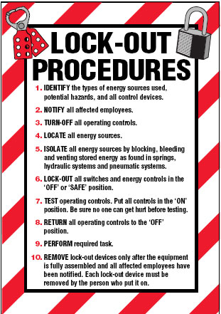 Arc flash lockout labels lock out procedures for Arc flash policy template