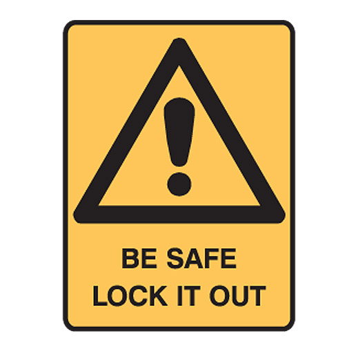 Be Safe Lock It Out W/Picto
