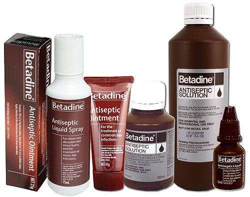 Betadine Antiseptic Cream Betadine Antiseptic Liquid