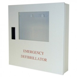 Enclosed Wall Mounted Defibrillator Cabinet with Alarm