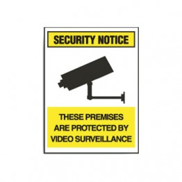 Surveillance Signs - These Premises Are Protects By Video Surveillance