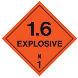 Dangerous Goods Labels & Placards - Explosive 1.6