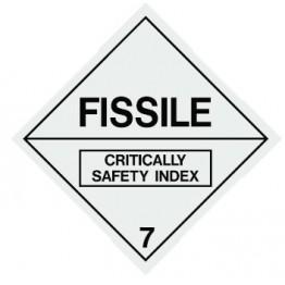 Dangerous Goods Labels & Placards - Fissile 7