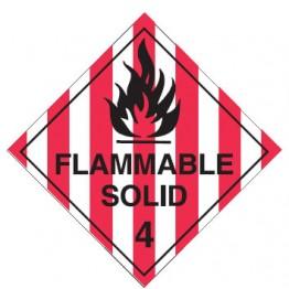 Dangerous Goods Labels & Placards - Flammable Solid 4