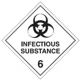 Dangerous Goods Labels & Placards - Infectious Substance 6