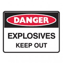 Explosives Keep Out