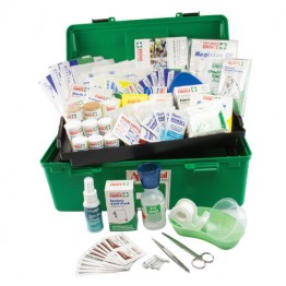 National Workplace First Aid Kit Polypropylene Portable Large Green