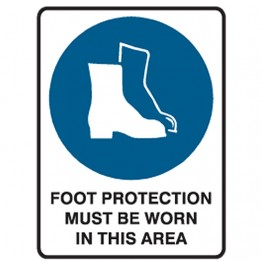 Foot Protection Must Be Worn In This Area - Ultra Tuff Signs