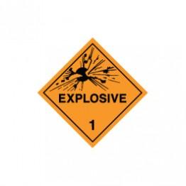 Dangerous Goods Labels & Placards - Explosive 1