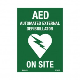AED Defibrillator Labels - AED on Site