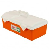 Orange Poly Portable First Aid Case