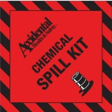Accidental Chemical Spill Kit Bin Label FRONT