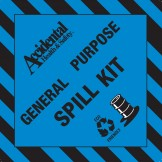 Accidental Eco-Friendly General Purpose Spill Kit Bin Label FRONT