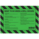 Accidental Polypropylene Oil & Fuel Spill Kit Bin Label SIDE