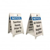 2 Legend Economy Floor Stands – Sanitise Hands Prior To Entry/All Vistors Must Register at Office