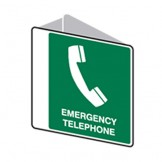 3D Sign Emergency Telephone