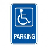 Disabled Parking W/Picto Sign