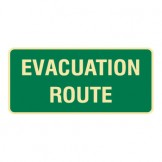 Exit & Evacuation Signs - Evacuation Route