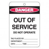 Large Economy Lockout Tags - Out Of Service