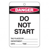 Large Economy Lockout Tags - Do No Start