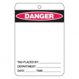 Large Economy Lockout Tags - Danger Blank Label