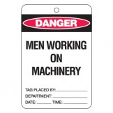 Large Economy Lockout Tags - Men Working On Machinery