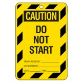 Large Economy Lockout Tags - Caution Do Not Start