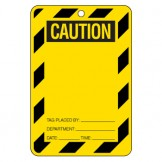 Large Economy Lockout Tags - Caution Blank Label