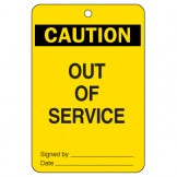 Large Economy Lockout Tags - Caution Out Of Service