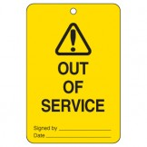 Large Economy Lockout Tags - Warning Out Of Service