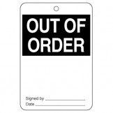 Large Economy Lockout Tags - Out Of Order