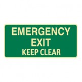 Exit & Evacuation Signs - Emergency Exit Keep Clear