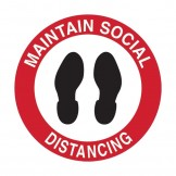 Floor & Carpet Marking Sign - Maintain Social Distancing