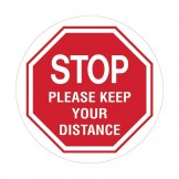 Floor & Carpet Marking Sign - Stop Please Keep Your Distance