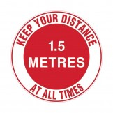 Floor & Carpet Marking Sign - Keep Your Distance At All Times - 1.5m