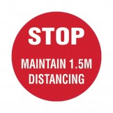 Floor Marking Sign - Stop Maintain 1.5m Distancing