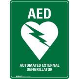 AED Defibrillator Sign Metal 450 x 600mm