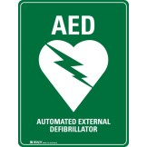 AED Defibrillator Sign Self-Adhesive Vinyl 180 x 250mm