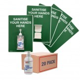 Value Bundle - Sanitiser Holder with FREE 20 Pk Hand Sanitisers
