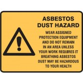 Asbestos Dust Hazard Wear Assigned Protection Equipment