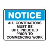 All Contractors Must Be Site Inducted Prior To