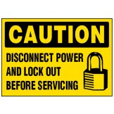 Arc Flash & Lockout Labels - Disconnect Power And Lock Out Before Servicing