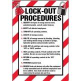 Arc Flash & Lockout Labels - Lock-Out Procedures..