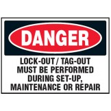 Arc Flash & Lockout Labels - Lock-Out/Tag-Out Must Be Performed