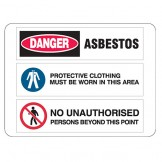 Asbestos / Protective Clothing / No Unauthorised Persons
