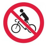 No Bicycles-Picto Only