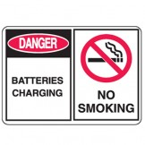 Batteries Charging/No Smoking W/Picto