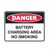Battery Charging Area No Smoking