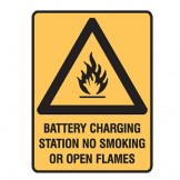 Battery Charging Station No Smoking Or Open Flames