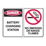 Battery Charging Station/No Smoking Or Naked Flames W/Picto